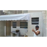 cortina lona branca