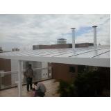 fábricas de cobertura de policarbonato Jardim das Flores