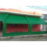 loja de cortina de lona transparente Centro