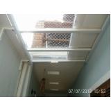 toldo de policarbonato para portas Residencial Onze